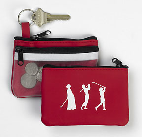 THREE LADY GOLFERS ZIPPERED COIN PURSE