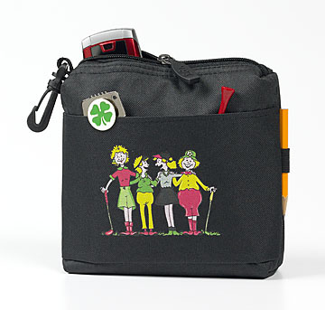 FOURSOME LADY GOLFERS CLIP-ON POUCH