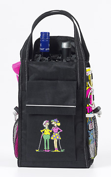 Two Fun Ladies Deluxe Wine Tote/Cooler