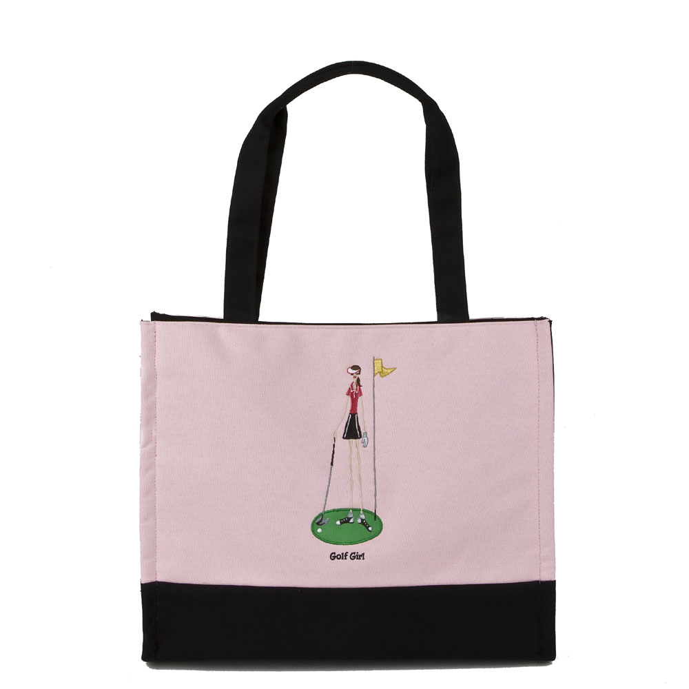 GOLF GIRL SNAP TOTE PINK