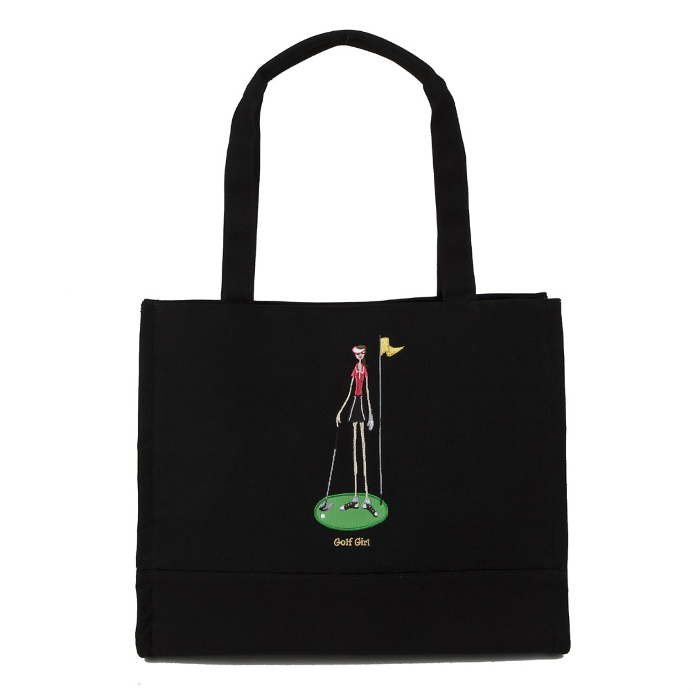 GOLF GIRL SNAP TOTE BLACK